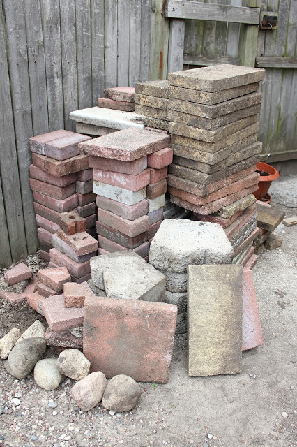 Digging Around The Yard Unearthed A Random Paver Or Two U2013 Or Hundred, All  Mix Matched And Beautiful. As Mike And I Stacked, We Decided Not To Waste A  Single ...