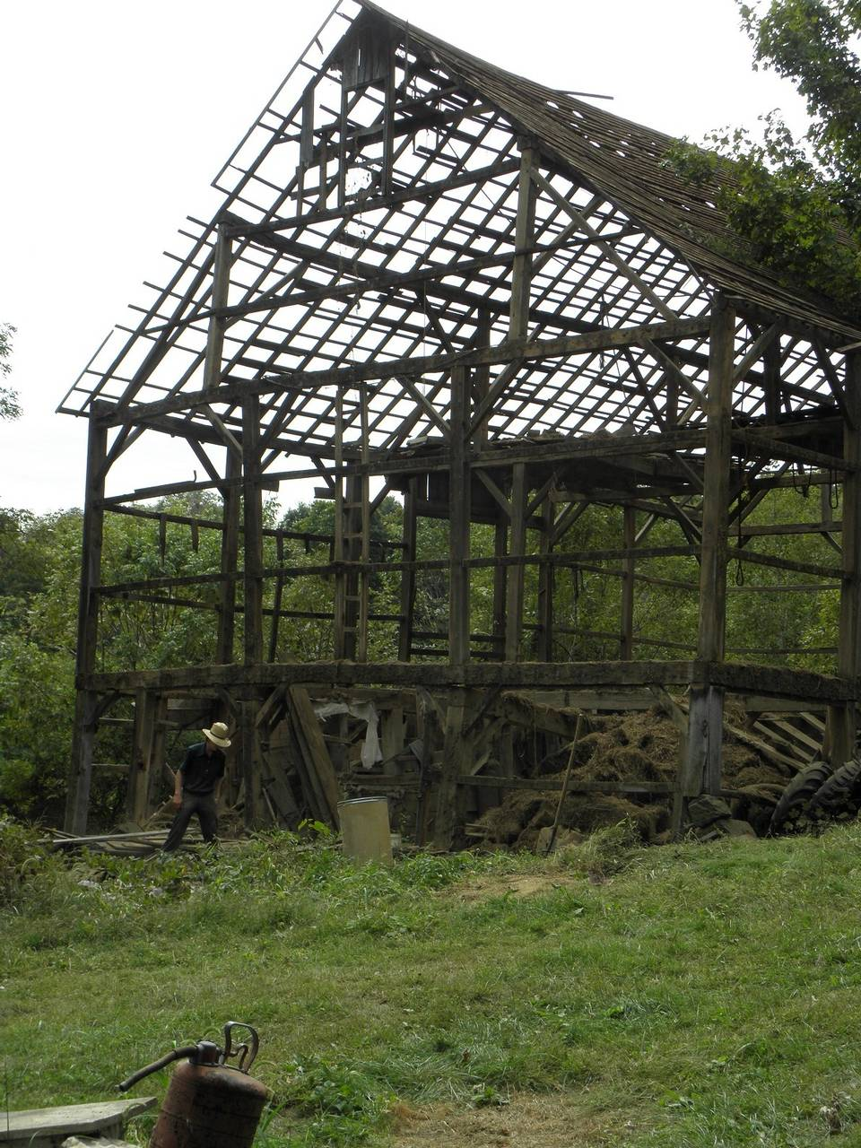 a barn deconstructed by Tom Banach of Hardeeville. On average, about 50 to 60 percent of a structure's materials can be used in a new home.
