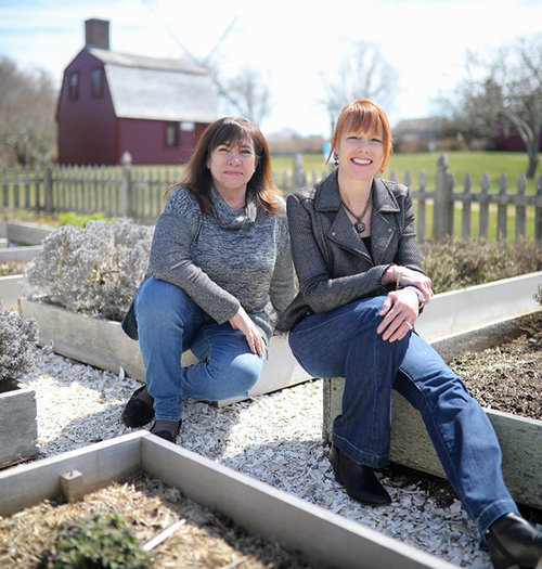 Rhode Island residents Mary Gervais, right, and Cindy Bogart recently launched a website to help people connect to past practices and materials. (Maaike Bernstrom)