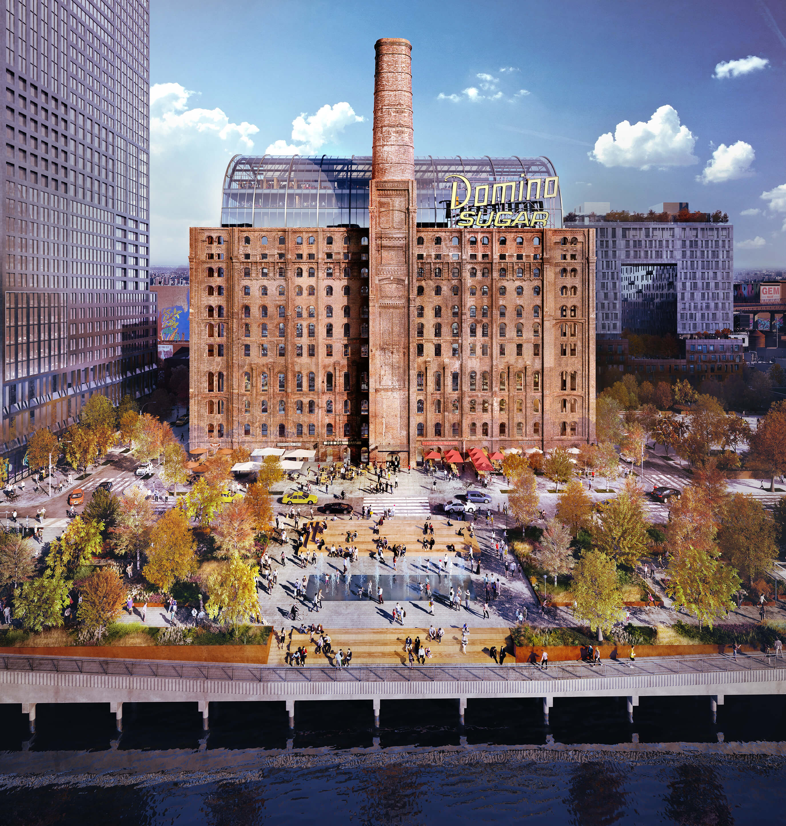 williamsburg domino sugar park rendering