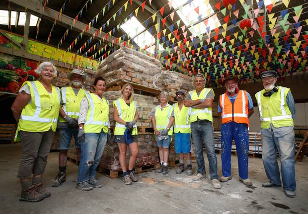 The volunteer group started recycling the bricks from the former Harbour Board building in 2018.
