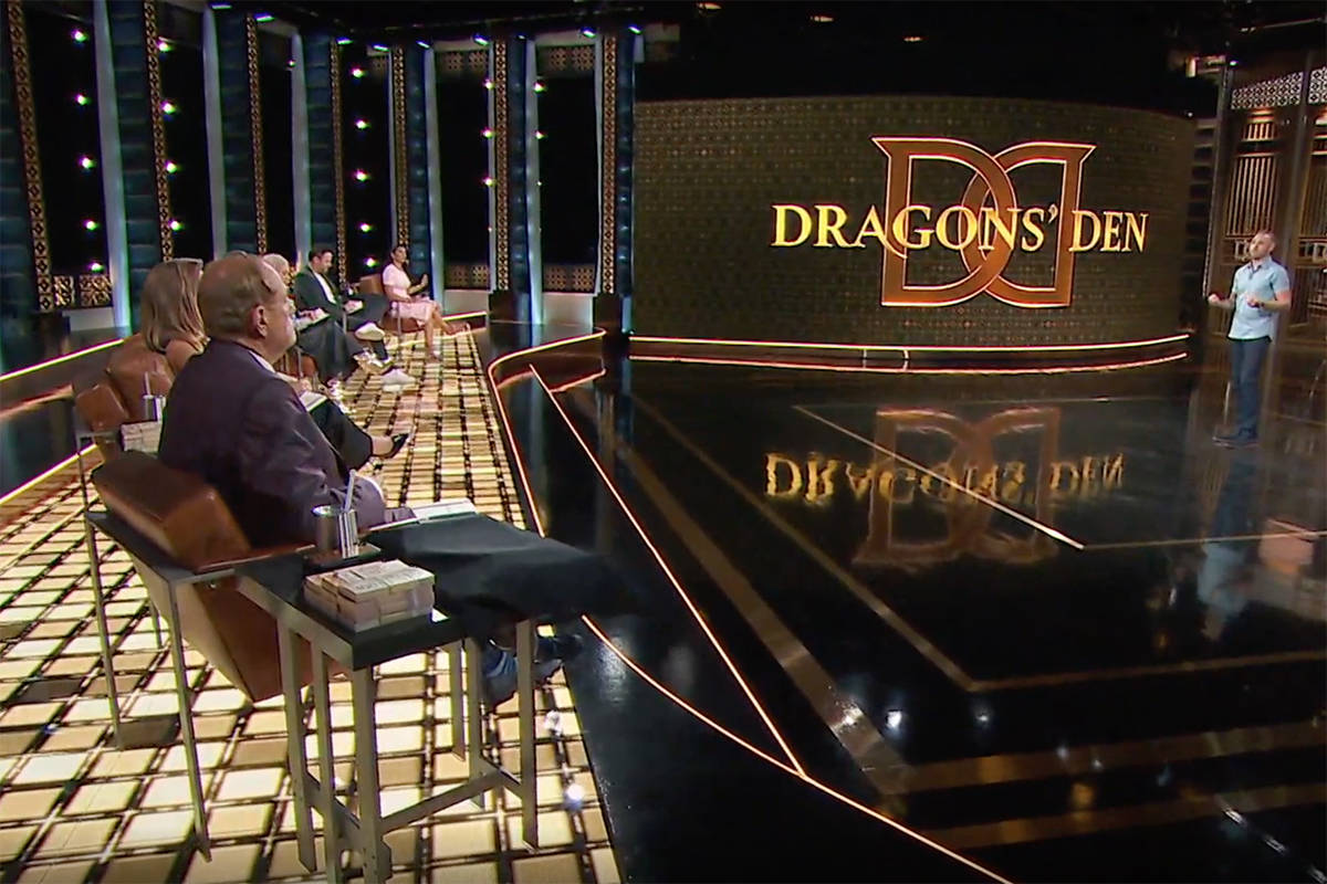 Adam Corneil sparked the attention of all six Dragons' Den judges after pitching his deconstruction business. (Screenshot from Dragon's Den Oct. 29, 2020 episode)