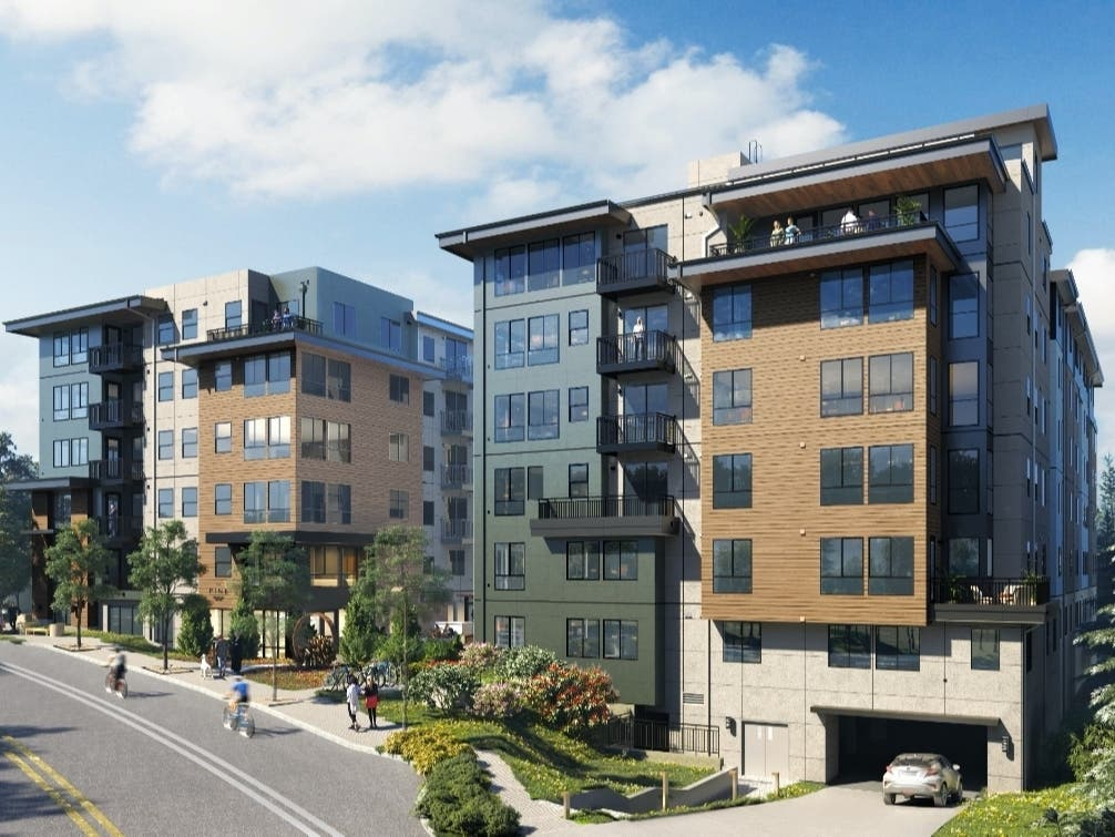 The new seven-story building was designed to be eco-friendly and promote healthy living, developers said.